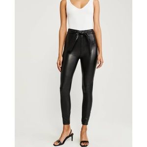 Abercrombie & Fitch HighRise Faux Leather Leggings